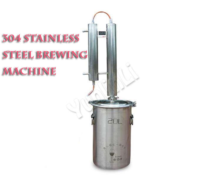 Household Distiller Household Brewing Machine Wine Making Machine Stainless Steel Distiller Essential Oil Hydrolat Distiller 20L
