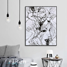 Abstract Art Hanging On The Wall Painting People Avatar Poster Print Canvas Painting Picture Home Wall Art Decoration Custom bret harte tarinoita kalifornian kultamailta