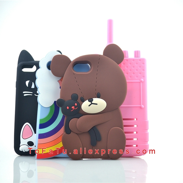 hot sale online a2bcb b3ebc US $3.03 11% OFF Bear Rainbow Teddy Dog Intercom Silicone Phone Cases  Covers For iPhone 6 6s 7 8 6 Plus 7 Plus 8 Plus Case-in Fitted Cases from  ...