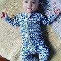 Infantis Meninos Meninas Roupas de Bebê Macacão de Bebê Recém-nascido Crianças Uma Peças Macacão Bonito Impressão Espinha de Peixe Projeto Trajes Bebê Bebes