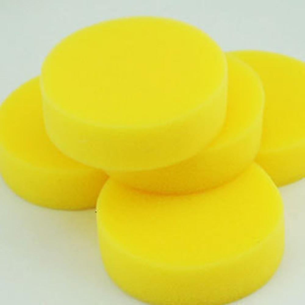 No Pressing Edge Small Sponge Yellow Car Special Waxing Sponge Round Cleaning(China)