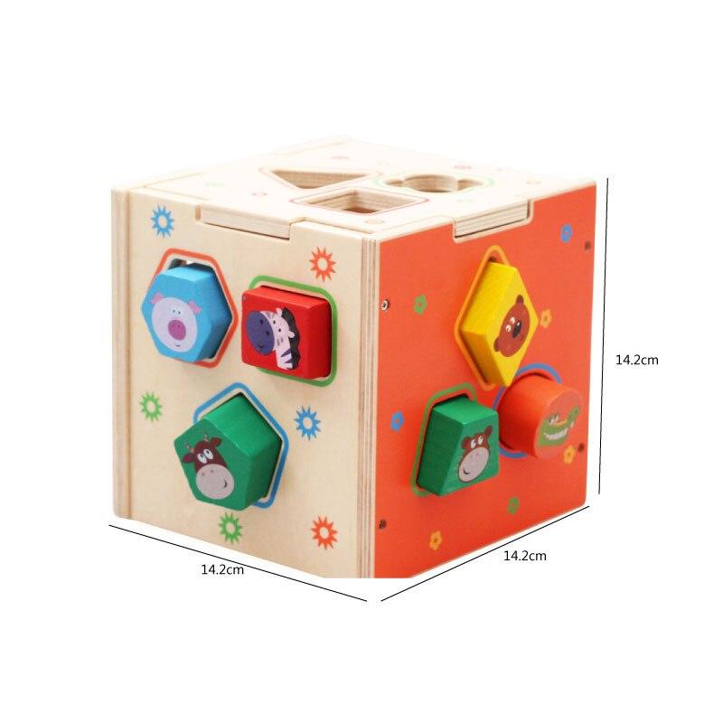 Детские игрушки деревянные головоломки раннего обучения геометрический соответствующий флажок Развивающие деревянные игрушки для детей ...