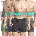 BXMAN 100% Knit Cotton High Quality Men Boxer Shorts Men's Underwear Classic Underpants Men Undergarment 20 Types 3Pieces/Lot