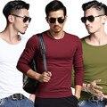 Mens Moda camisas T 2016 T-shirt Dos Homens de Fitness Casual camisa Longa Da Luva T Dos Homens M-3XL-Car styling