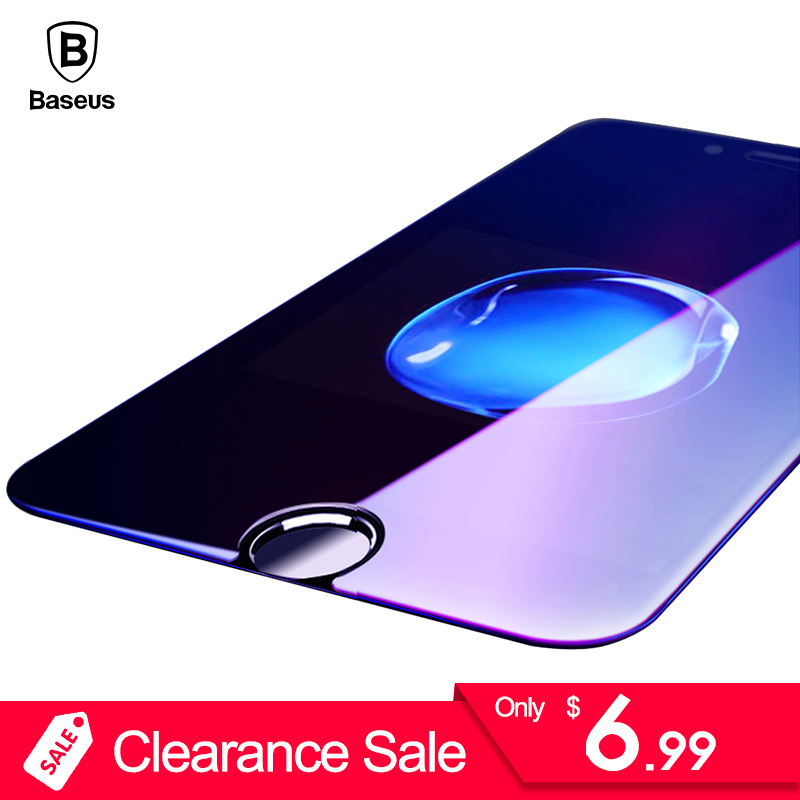 Clearance! Baseus Tempered Glass For iPhone 6 6s Plus 0.23MM 3D Anti Blue Screen Protector For iPhone 6 Protective Glass Film
