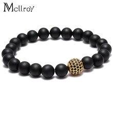 39ece96ad407 Mcllroy Lucky Gem nueva moda negro Natural Mantra cuentas de oración Buda  pulsera para las mujeres y hombres Pulseras Masculina