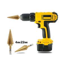 цена на Hex Titanium Step Cone Drill Bit Hole Cutter 4-32MM HSS4241 For Sheet Metal Hex Titanium Step Drill