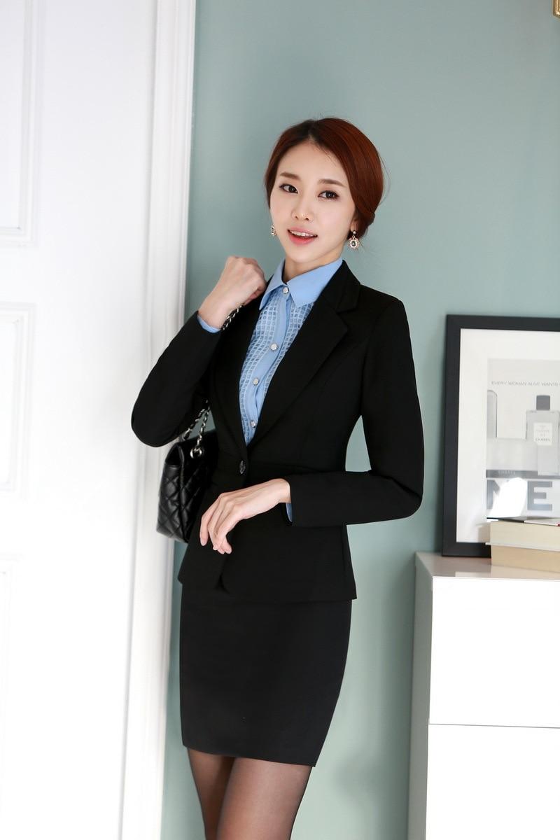 Aliexpress.com : Buy Formal Black Blazer Women Business Suits with ...
