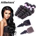 Malaysia Virgin Hair Loose Wave With Closure 8A Malaysia Hair Weave 3 Bundles With Lace Closure Thick Human Hair With Closure
