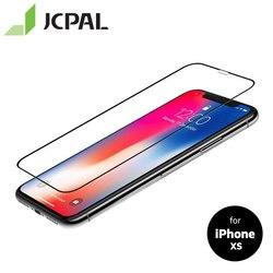 JCPAL Preserver szklana folia ochronna do iPhone XS folia pełnoekranowa 9H pełna osłona antyodblaskowa