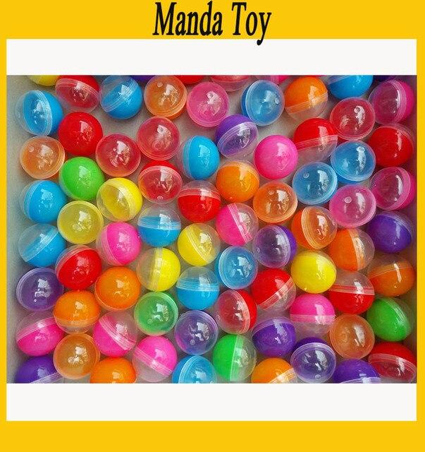 32mm demi clair demi couleur plastique Capsule jouet Capsules pour la vente vide en plastique jouets balle 100 pcs/Lot livraison gratuite