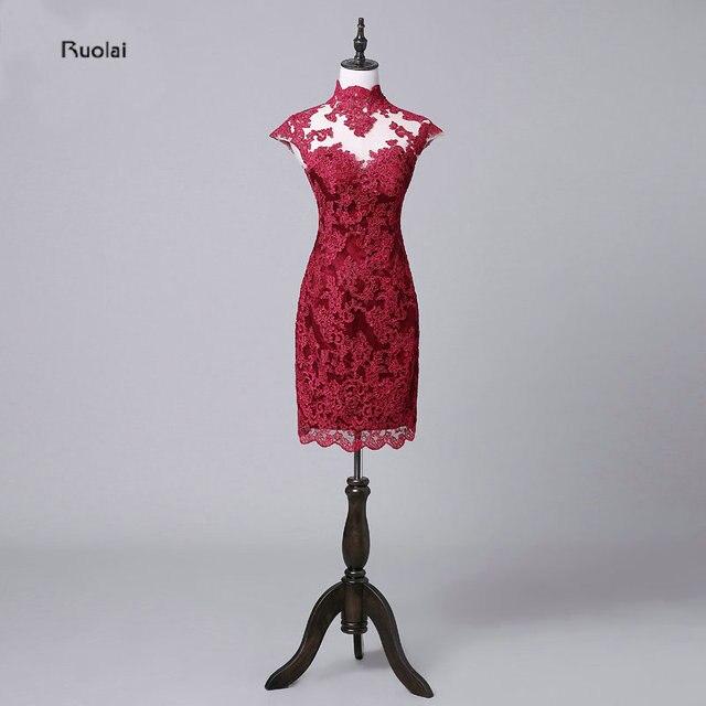 Kleid hochzeitsgast dunkelrot