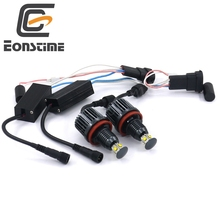 Eonstime 2Pcs 40W H8 Cree LED Chips HID Headlight 6000k Angel Eyes For BMW E60 E61 E63 E64 E70 X5 E71 E82 E87 E89 E90 E91 E92