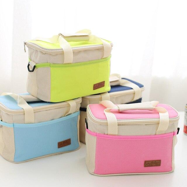 VILEAD 4 Colors 25*15*16cm Portable Waterproof Ice Bag Oxford Cloth Picnic Bag Handbag Built-in PVC Waterproof Cooler Bag Beer