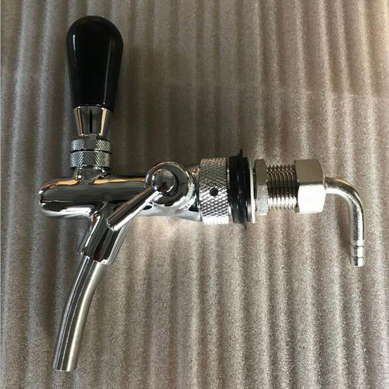 2018 пивной кран регулируемый кран с хромирования потока Управление пива кран доморощенного решений кран
