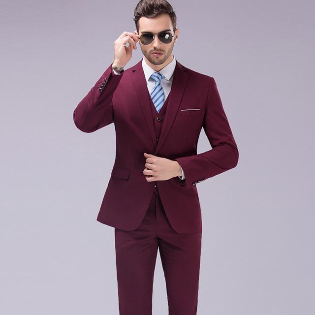 (Jaqueta + Calça + Colete) Homens Ternos Slim Fit Plus Size M-5XL Mens Ternos de Casamento Branco com Calças Dos Homens de Negócios Formal Wear MGXF1