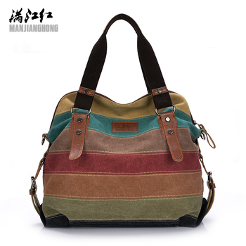 0bdcdc2a91db Цветная Женская Холщовая Сумка на плечо, большая сумка-портфель, Дамская  Лоскутная сумка через плечо, Женская Повседневная Сумка-тоут 1196