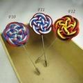 12pcs/lot Fashion chinese knot  flower men stick pin handmade flower  lapel pin  brooch pins  Classic Assorted