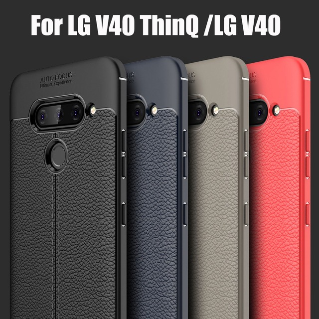 new product 8b082 2ccab US $3.0 14% OFF|phone cases for LG V40 ThinQ 2018 best luxury anti knock  soft TPU silicone cover skin case for LG V40 V 40 full protective case-in  ...