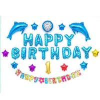 1 Takım Mutlu Doğum Günü Mektup ayı Şekilli balonlar Çok Renkli Folyo Balonlar Parti 1st Doğum Günü Partisi Decaoration #25