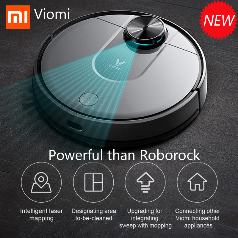 Xiaomi Viomi V2 Pro Robot Vacuum Cleaner Mijia App Control Laser Navigation Route Planning Intelligent Floor