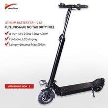 JS 8 дюймов 36 V 250 W-500 W электрический скутер 80 KM 5A-21A Patinete Electrico Adulto складной kick escooter скейтборд Ховерборд велосипед