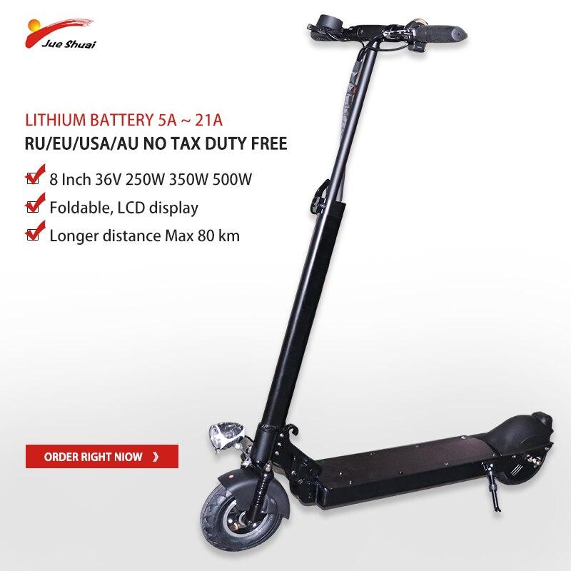 JS 8 pouces 36 V 250 W-500 W Scooter électrique 80 KM 5A-21A Patinete Electrico Adulto pliable kick escooter skateboard hoverboard vélo