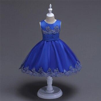 Celarence Verkauf 3-10 Jahre Baby Mädchen Blau Kleider für Hochzeit ...
