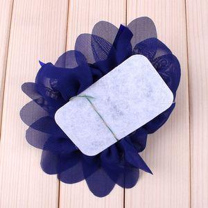 Image 5 - (30 adet/grup) 10 Renkler Yeni Stok Şifon Gül İnci Çiçek Bebek Çocuklar Için saç aksesuarları Şeker Renk Çiçek saç bandı