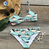 Cupshe See You There Bear Claw Printing Bikini Set Women Summer Sexy Swimsuit Ladies Beach Bathing