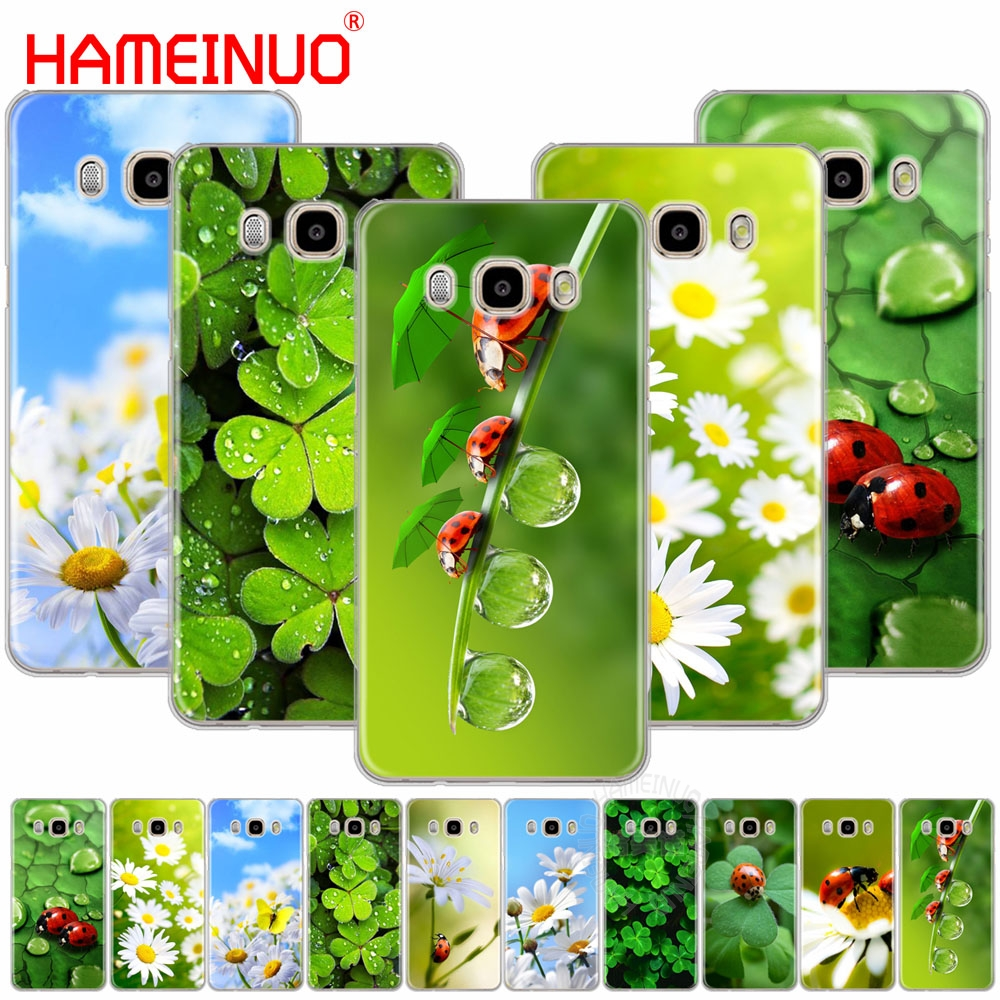 HAMEINUO four leaf ladybug daisy cover phone case for Samsung Galaxy J1 J2 J3 J5 J7 MINI ACE 2016 2015 prime