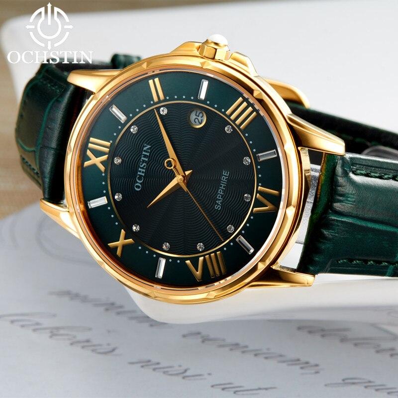 2018 femmes montres marque de luxe célèbre en cuir véritable japon mouvement montre-bracelet à Quartz femme automatique Date horloge Relogio Feminino - 4