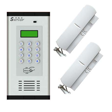 SMTVDP Top quality intercom system-2 apartment ,password/ID card/Key/phoneset unlocking ,Emergency function ...