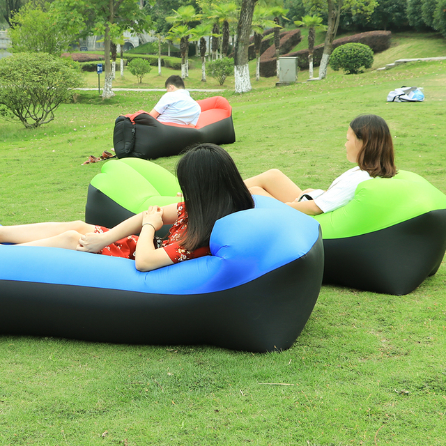 air bag chair rolling kitchen chairs bean fast inflatable camping sofa lazy sleeping lay banana bed lounge hammock