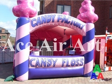 cheap oxford fabric advertising inflatable candy booth for candy floss exhibition