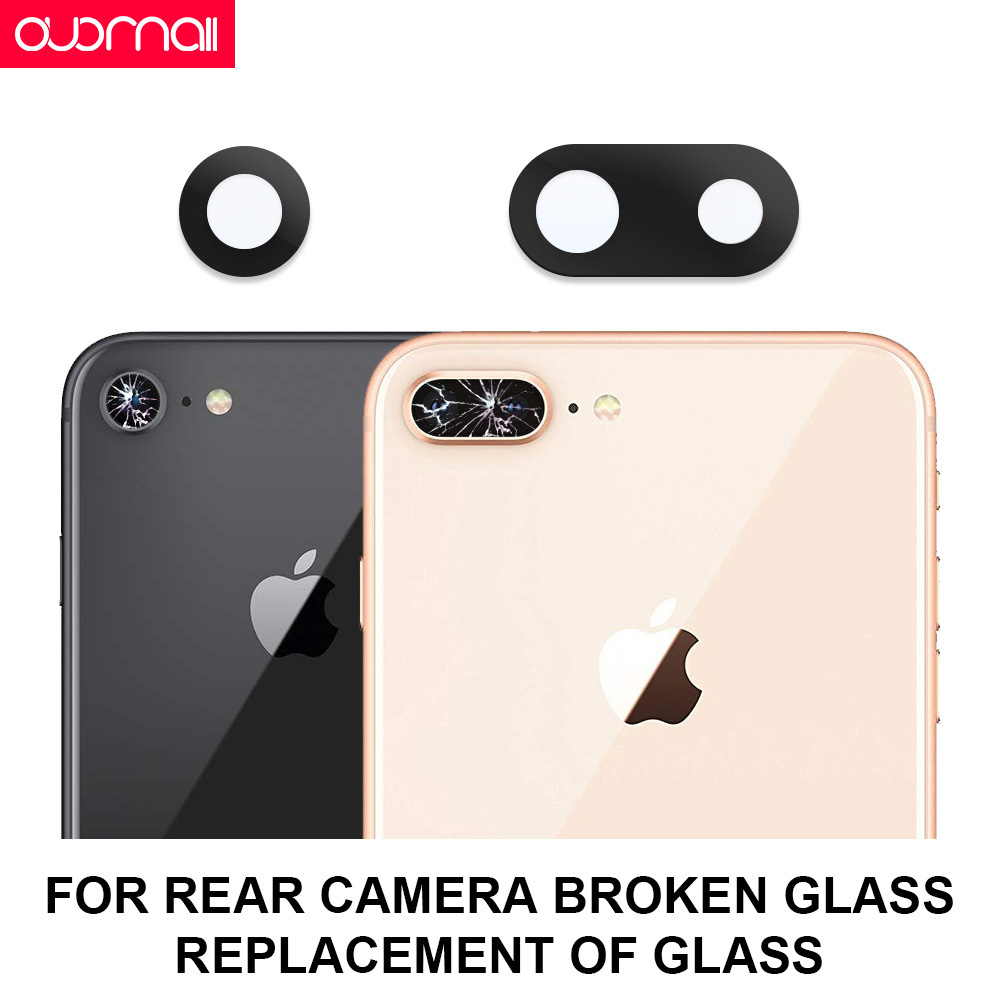 camera glass broken replace For iphone xs max camera glass iphone 7P 8 6 x xr back camera glass accessories Camera repair parts in Phone Screen Protectors from Cellphones Telecommunications