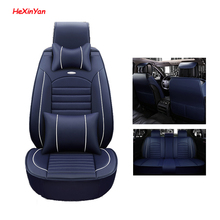 HeXinYan Leather Universal Car Seat Covers for Jaguar all models F-PACE XJL XF XFL XE XJ6 XK auto accessories car styling front rear special leather car seat covers for jaguar all models xf xe xj f pace f type brand firm soft auto accessories