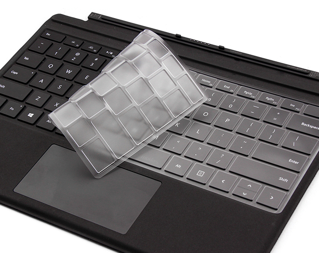 1517d49e074 XSKN for Microsoft Surface Book 1 2 Clear Keyboard Skin Surface 3 Pro 3 Pro  4 Type Cover Ultra Slim Clear TPU Waterproof Cover