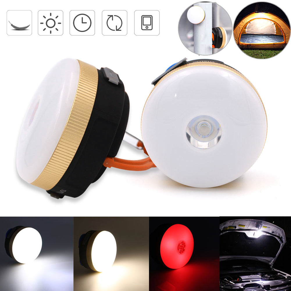 Outdoor 300Lumens Hiking Camping LED Night Light Portable 4 Modes Lantern Tent Hanging Lamp CLH@8