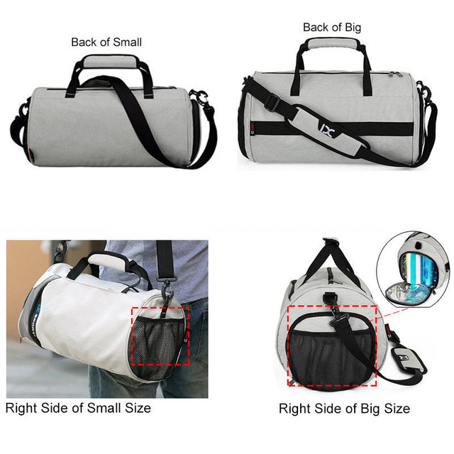 Men Sports Gym Bags for Travel Bag for fitness Outdoor Sports Shoes Women Dry Wet Separation Travel Independent Shoe Position 8