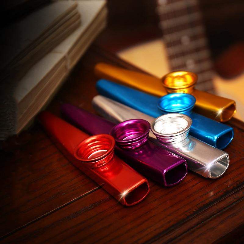 Simple Design Lightweight Kazoo Aluminum Alloy Metal For Guitar Instrument Music Lovers Instrument 12*2.5cm 6 Colors Optional