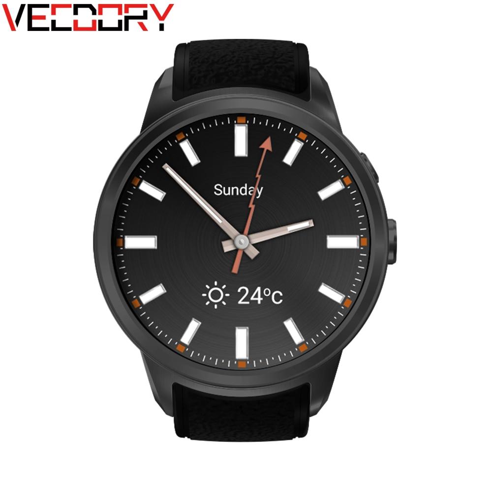 Vecdory 512M+8GB Smart Watch Android 5.1 OS Smartwatch MTK6580 Phone Support SIM Card GPS Wifi 3G Smart Clock Smart Wristwatch