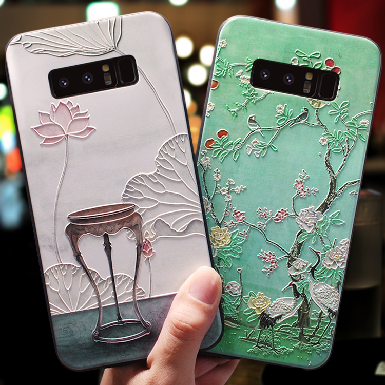 3D Emboss Coque Cases For <font><b>Samsung</b></font> Galaxy J7 J3 J5 Prime A3 A5 J4 J6 J8 A6 <font><b>A8</b></font> S7 S8 S9 Plus A7 <font><b>2018</b></font> 2016 2017 Note 8 9 Case TPU image