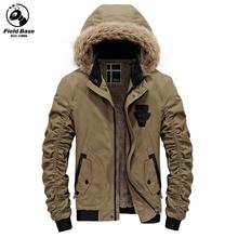 Autumn Winter Jacket Men Fleece Men Jacket Thick Outerwear Parka Male Brand Clothing Fur Lining Hooded Winter Coat JOB-SJLR515