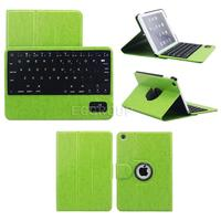 360 Degree Rotating Stander Leather Case With Detachable Bluetooth Keyboard For Apple IPAD Air 2 Ipad