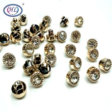 HL 10MM 30/50/100pcs Plating Rhinestone Shank Buttons Shirt  DIY Crafts Sewing Apparel Accessories