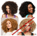 Kinky Curly Synthetic Wigs for Black Women Afro Wig Curly Synthetic Wigs Long Black African American Cheap Hair for Women Sale