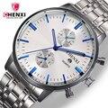Chenxi marca famosa masculino relógios de negócios de aço inoxidável relógio de quartzo dos homens de luxo de qualidade à prova d' água relógio de pulso para homem relogio