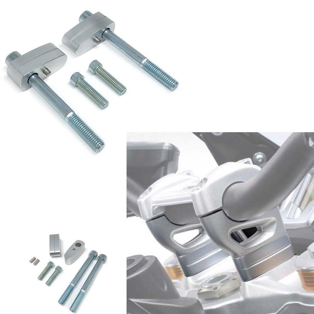 Silver Aluminum 20mm Handlebar Raiser Bar Moves Up Riser For BMW R NINE T K1600B 2014 2015 2016 2017 2018