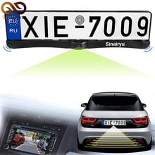 MJDX Универсальная Рамка Номерного знака С Двумя Реверсивный Радар датчики Парковки И PAL/NTSC Авто Камеры Заднего вида Автомобиля камера